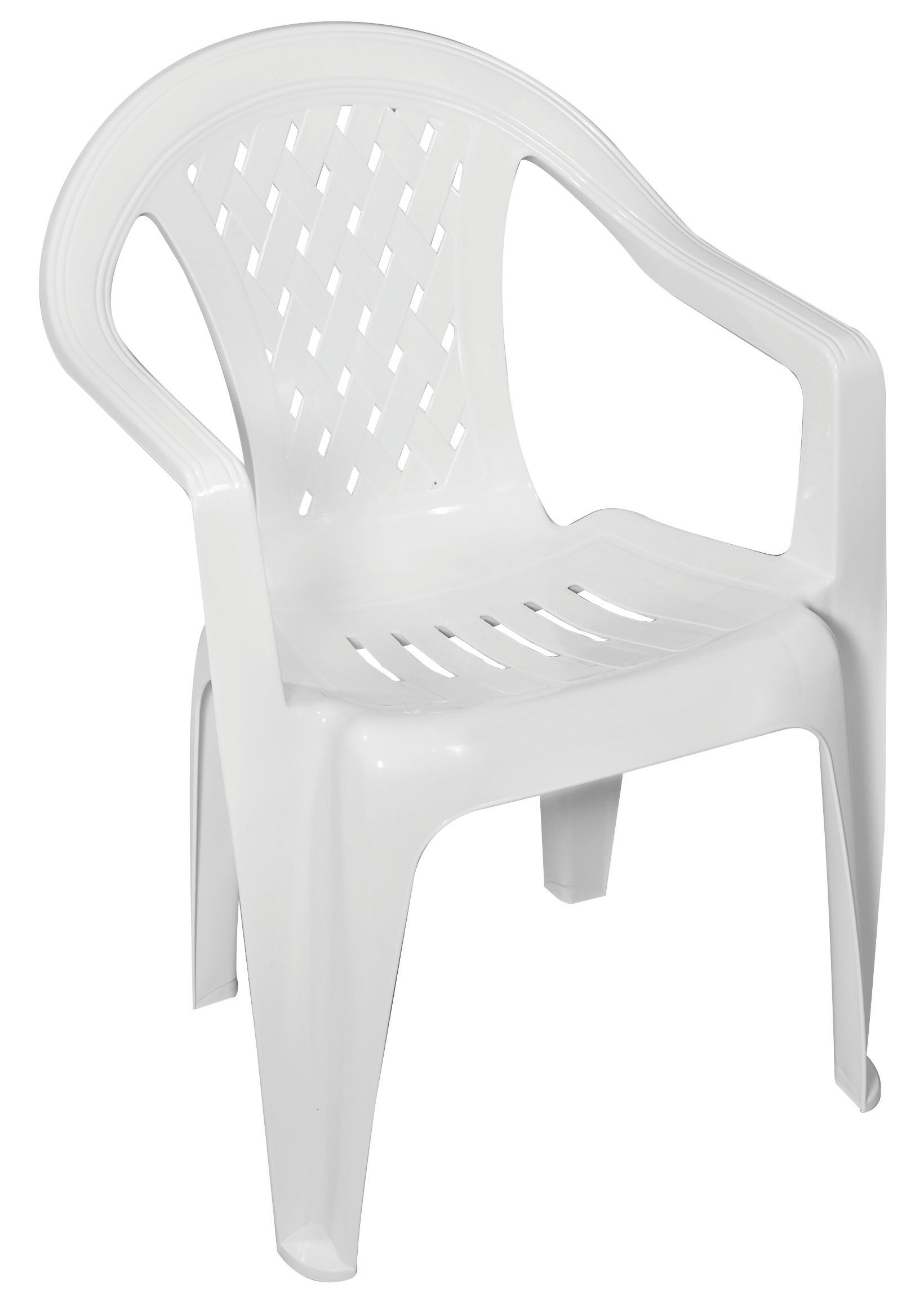 Low Back Lawn Chairs Gracious Living Trellis Low Back Chair White Outdoor