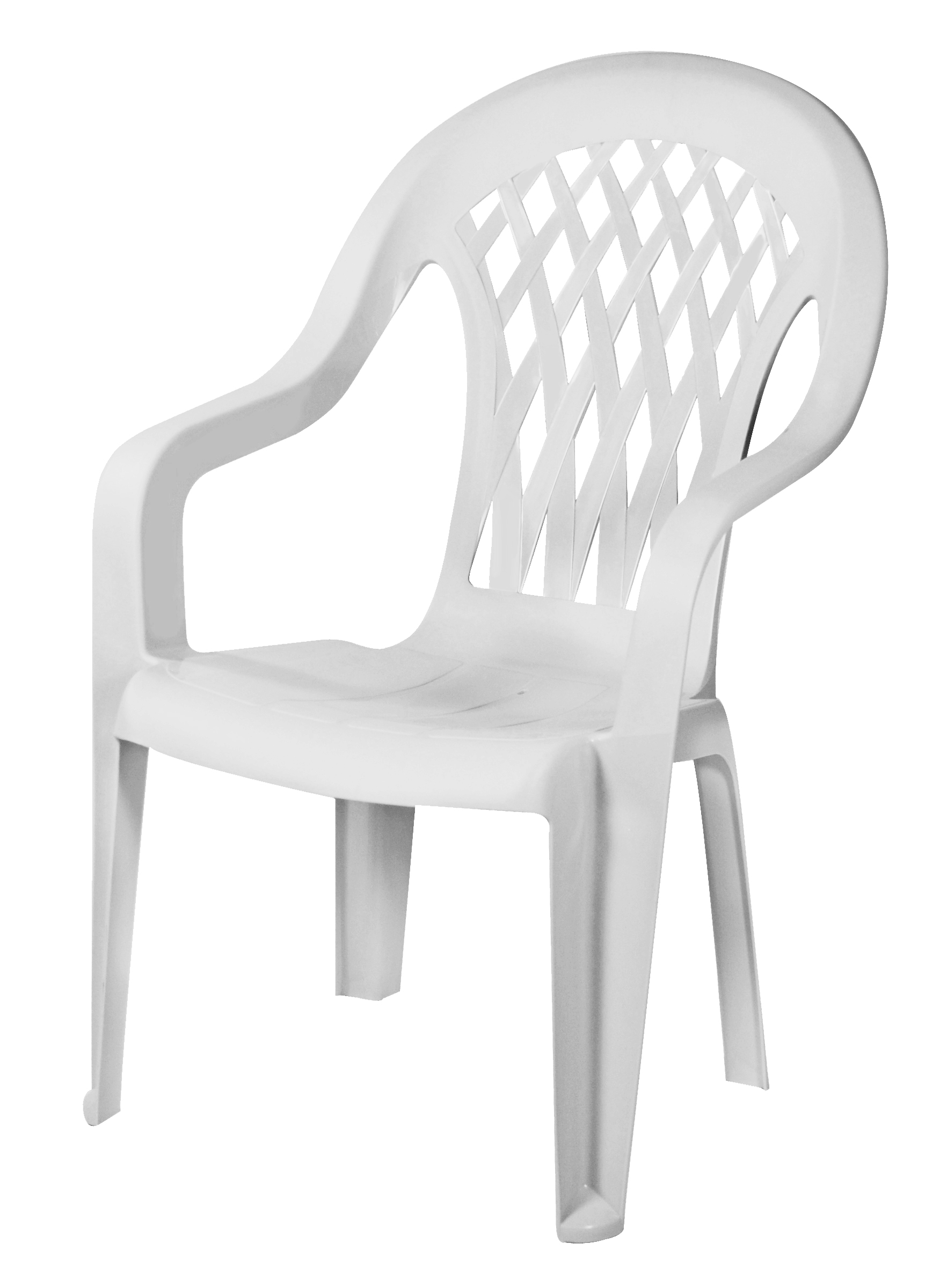 Low Back Lawn Chairs Gracious Living Lattice High Back Chair White