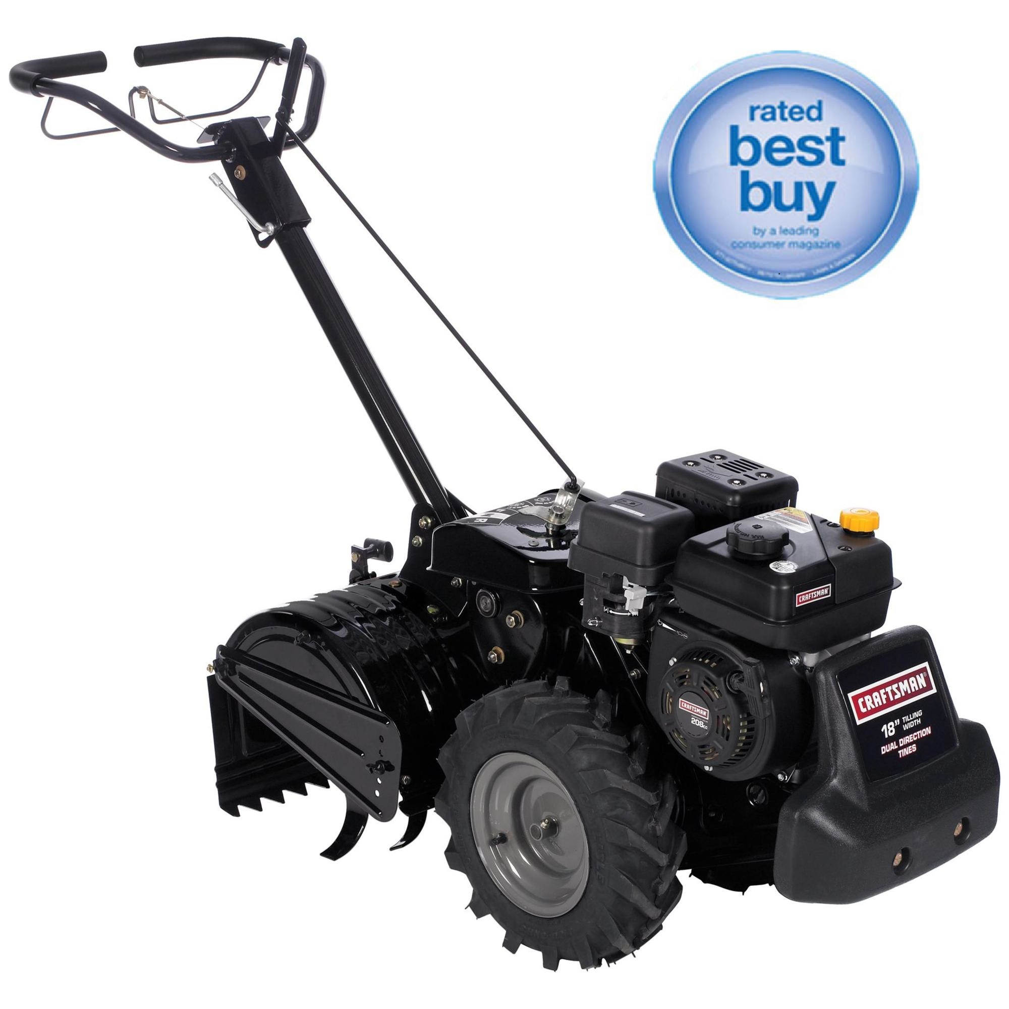 Craftsman 208cc Dual Rotating Rear Tine Tiller Plant With Sears