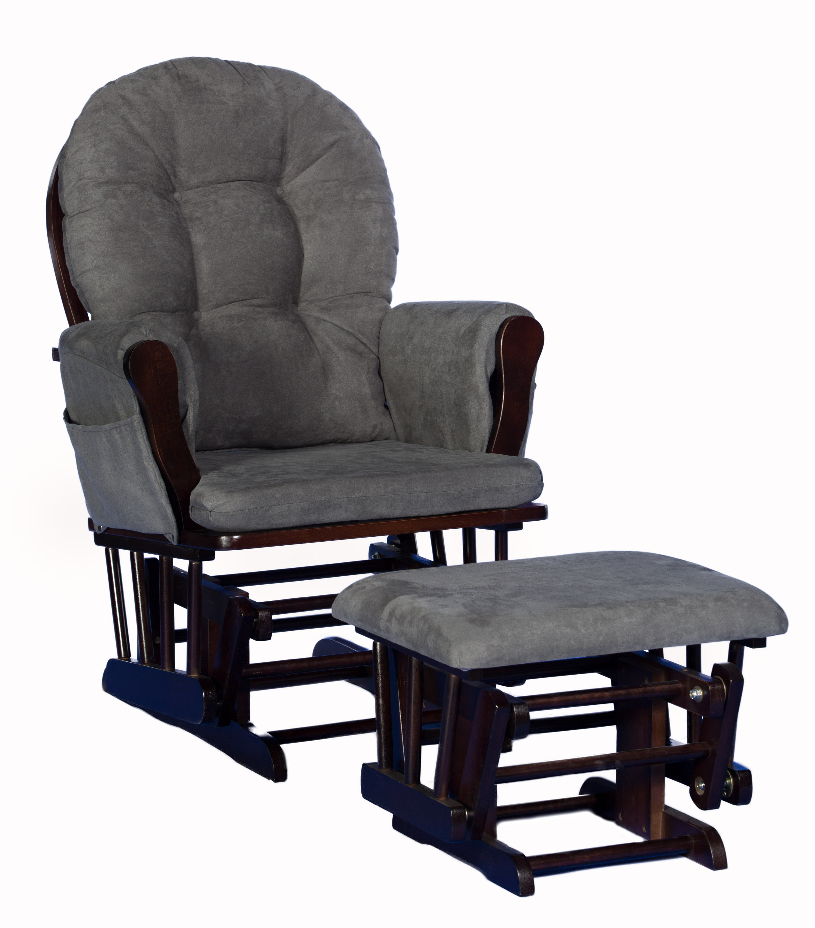 toys r us glider chair dyeing cotton covers stork craft custom hoop and ottoman espresso gray