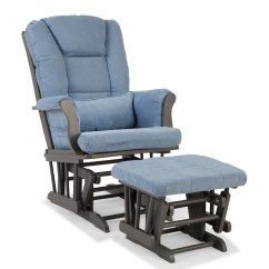 Walmart Glider Chair Unusual Chairs For Hallway Storkcraft Custom Tuscany And Ottoman Gray Blue