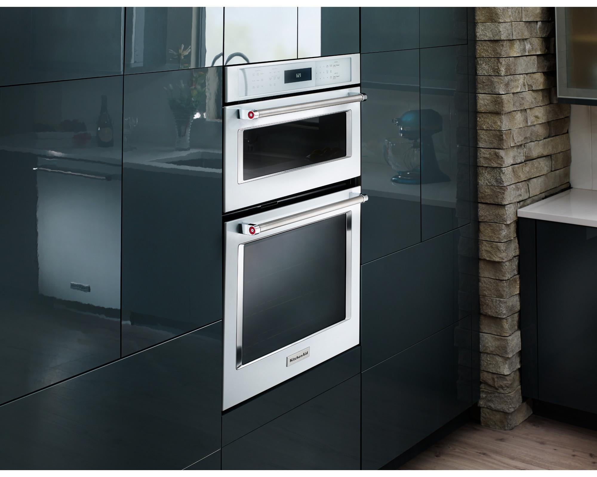 kitchen aid wall oven cool stuff kitchenaid koce500ewh 30 combination w even heat true convection white