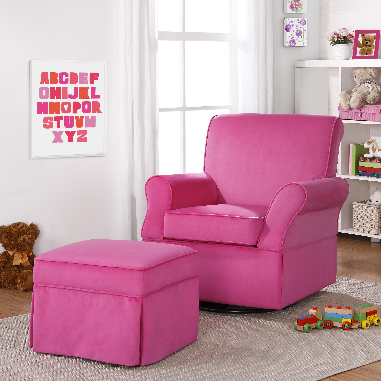 Dorel Home Furnishings Kelcie Pink Swivel Glider Chair