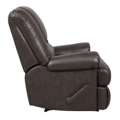 Faux Leather Chair And A Half That Turns Into Twin Bed Dorel Home Furnishings Stanford Espresso Recliner 4