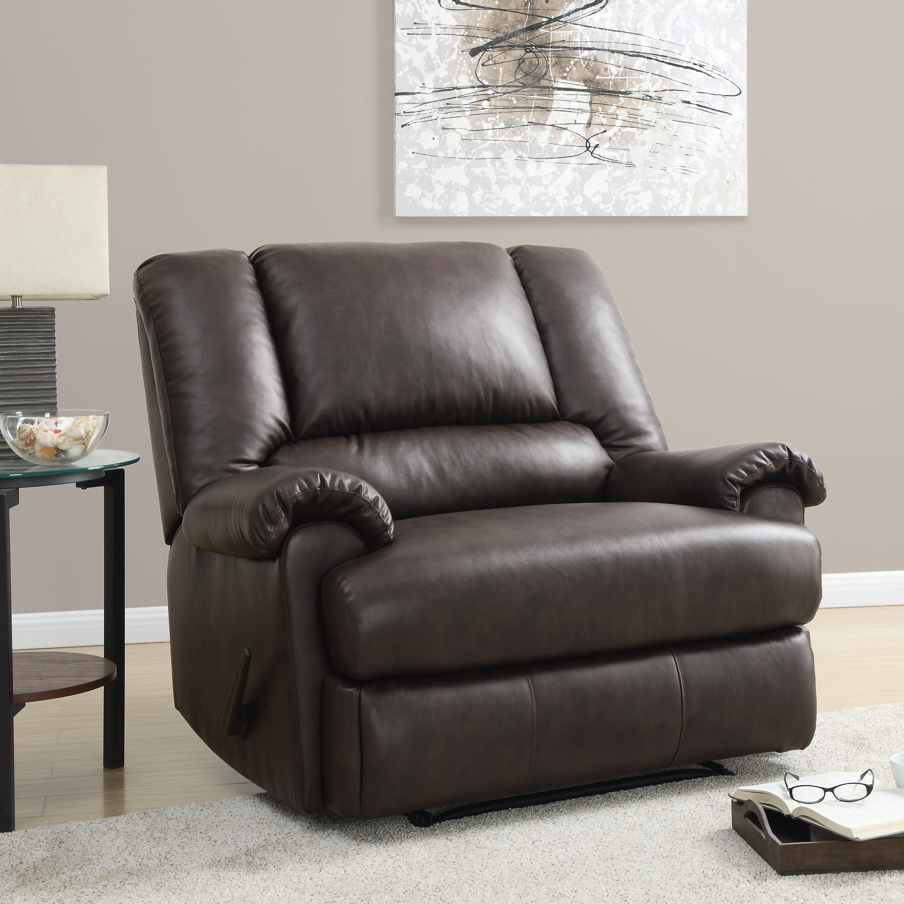 Leather Chair And A Half Dorel Home Furnishings Stanford Espresso Faux Leather