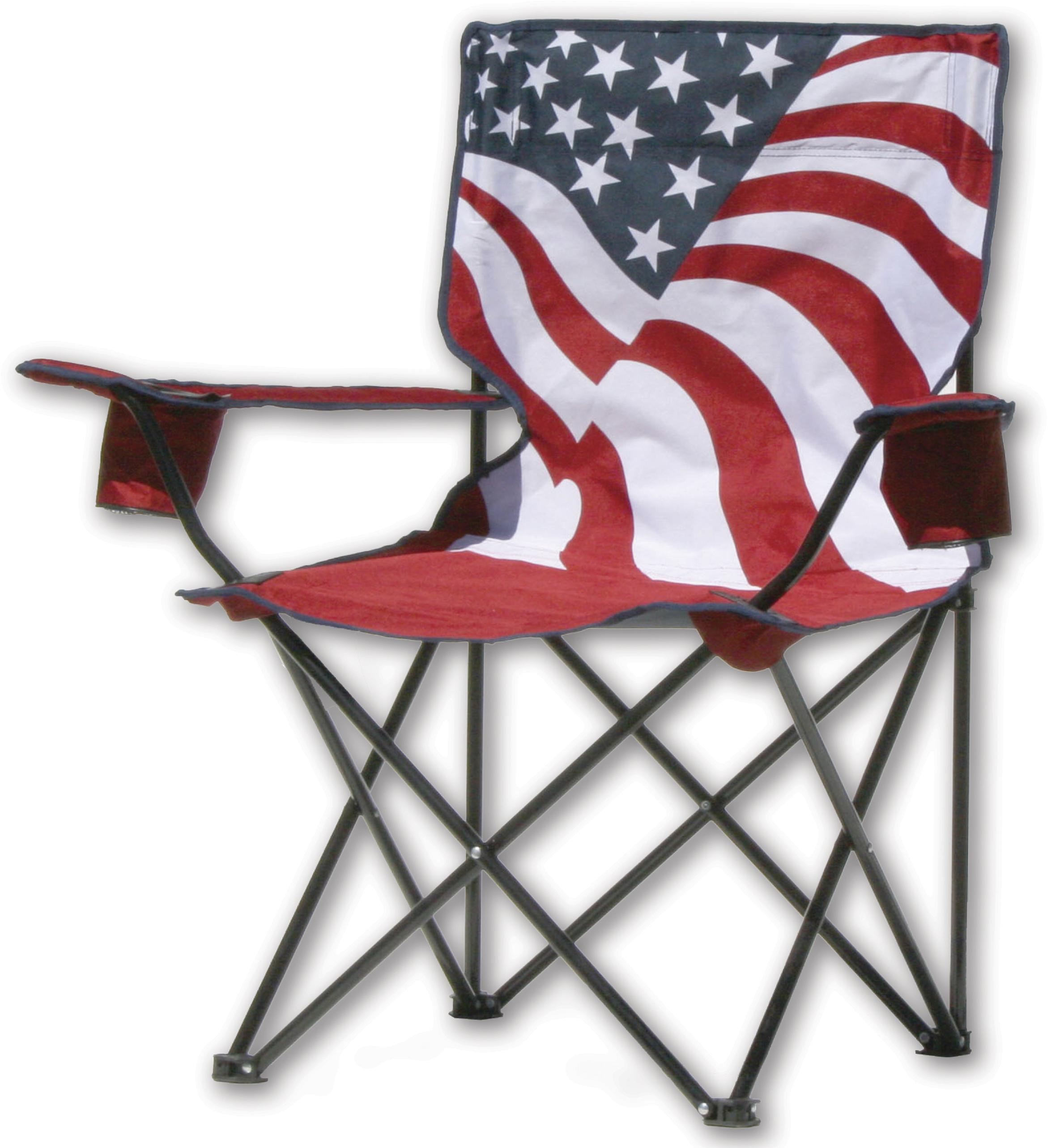 folding quad chair salon dryer chairs quik american flag pattern