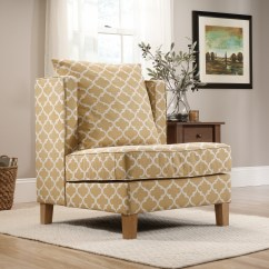 Geometric Accent Chair Sky Blue Covers Sauder Harper Mustard
