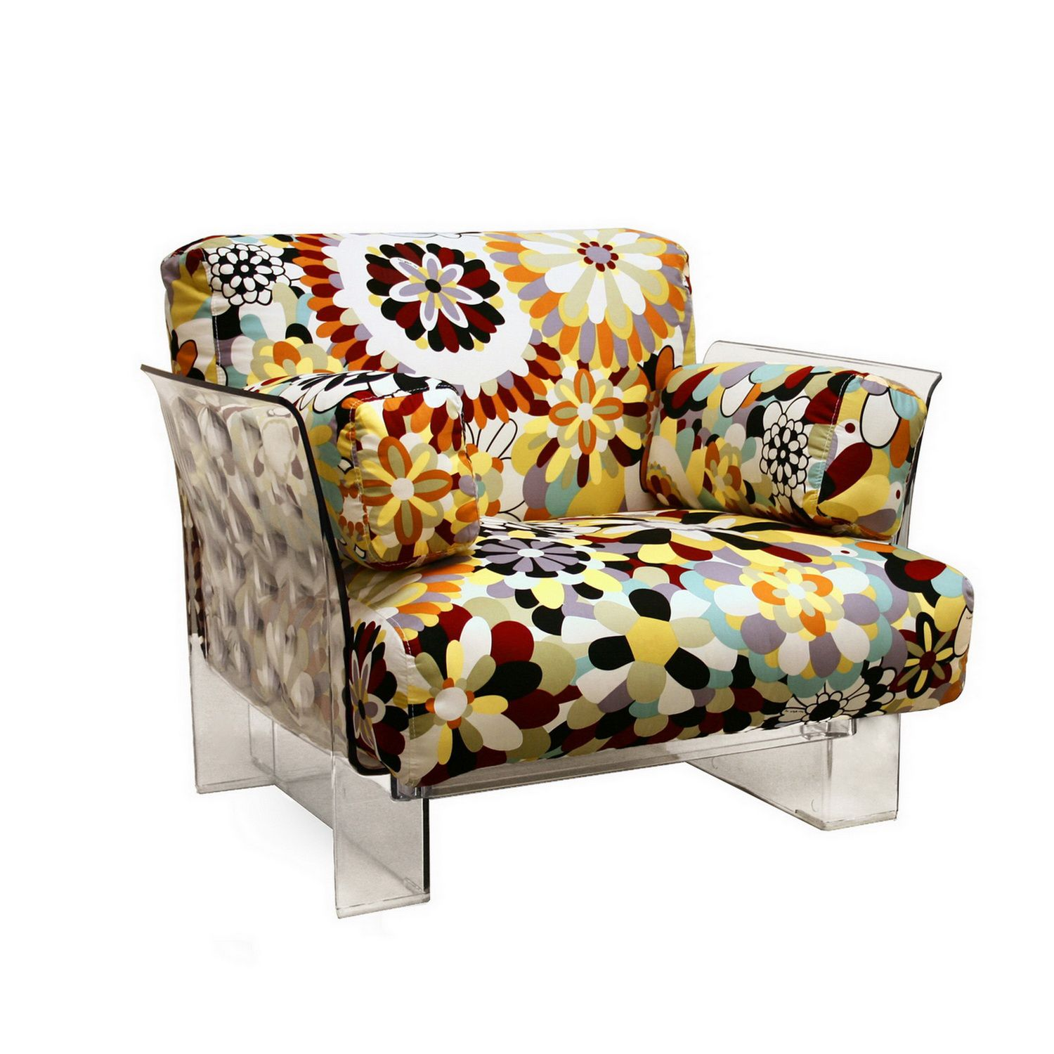 Floral Chair Baxton Studio Pop Chair With Floral Pattern Cushions And