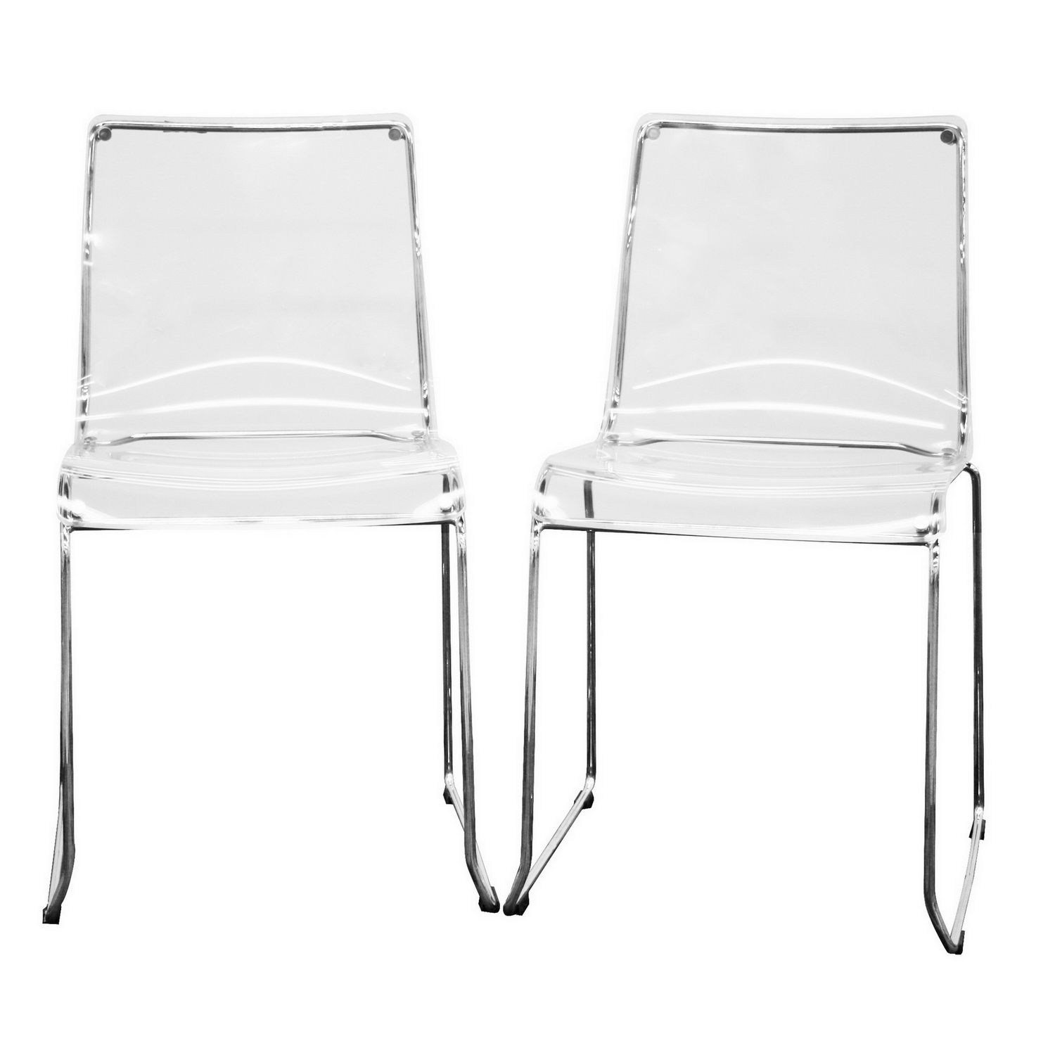 Plastic Clear Chair Baxton Studio Lino Transparent Clear Acrylic Dining Chair