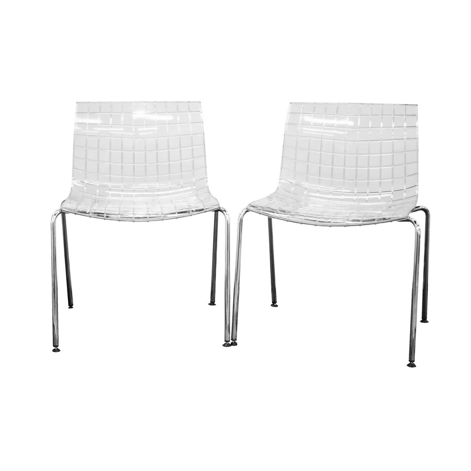 Clear Acrylic Chair Baxton Studio Obbligato Transparent Clear Acrylic Accent
