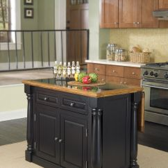 Granite Top Kitchen Island Cart With Butcher Block Home Styles Monarch Hidden Leg