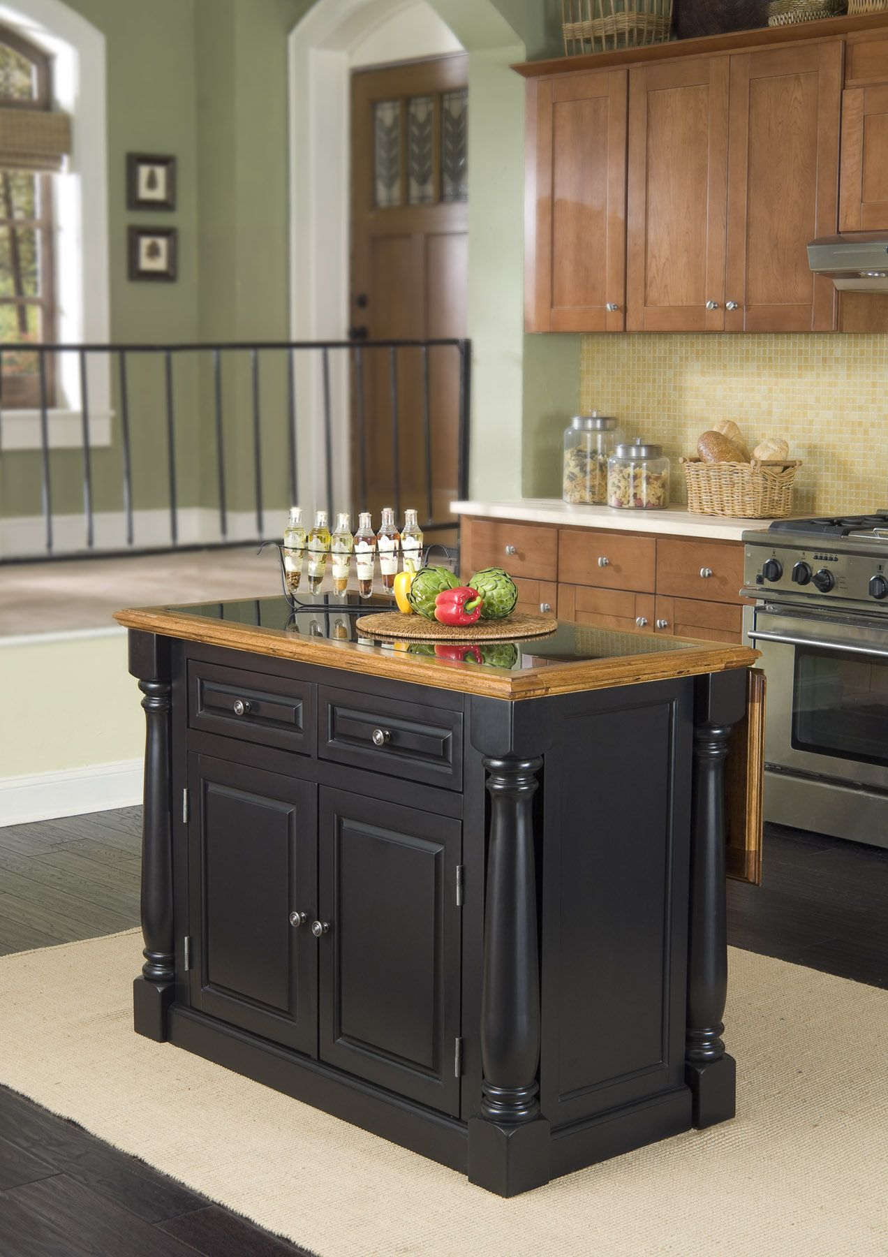 granite top kitchen island small remodeling ideas home styles monarch hidden leg with