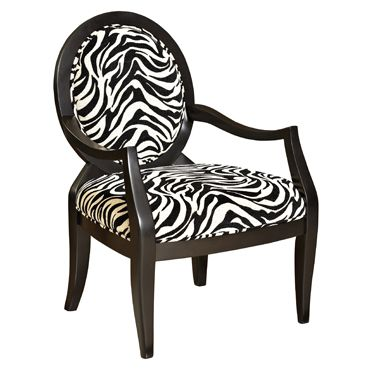 sears accent chairs bean bag chair kit l powell zebra oval back - home furniture living room ...