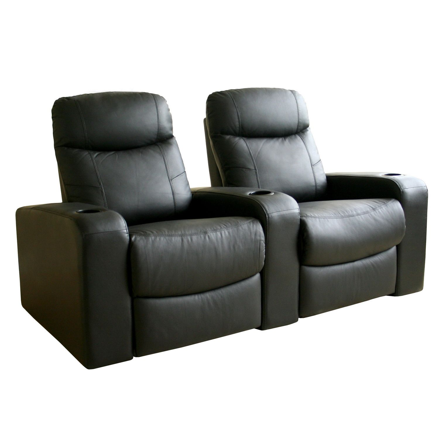 Movie Chairs For Home Theaters Baxton Studio Angus Leather Home Theater Recliner Set Of