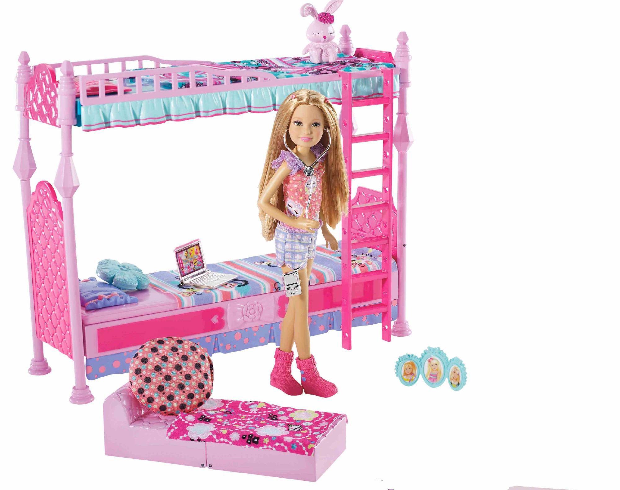 Barbie 174 Sisters Sleeptime Bedroom For 3 Furniture