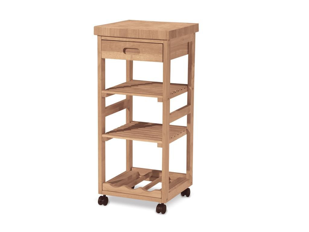 unfinished kitchen cart cabinets seattle international concepts trolley home