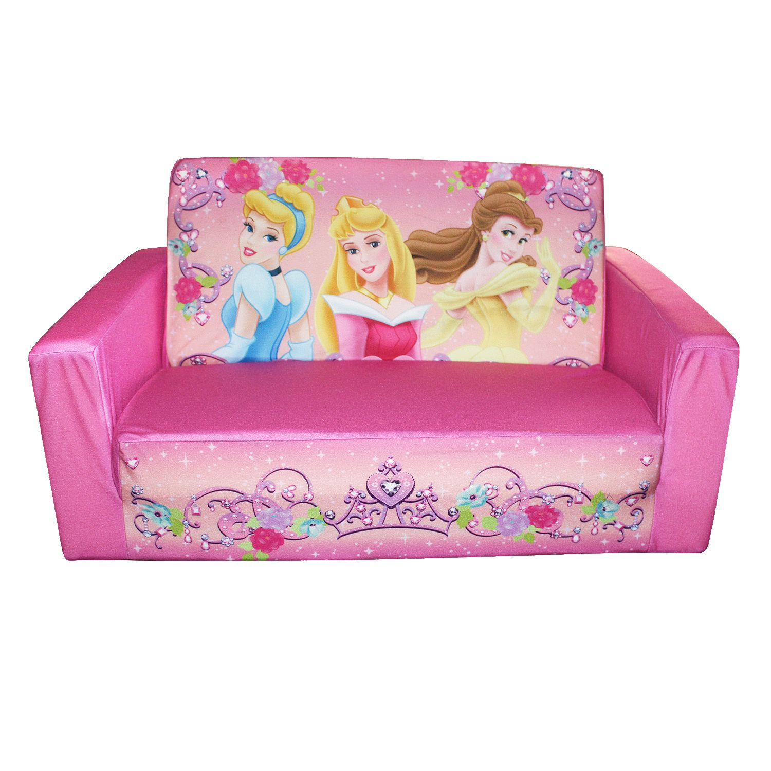 disney princess flip out sofa 299 nashville marshmallow open jewel theme