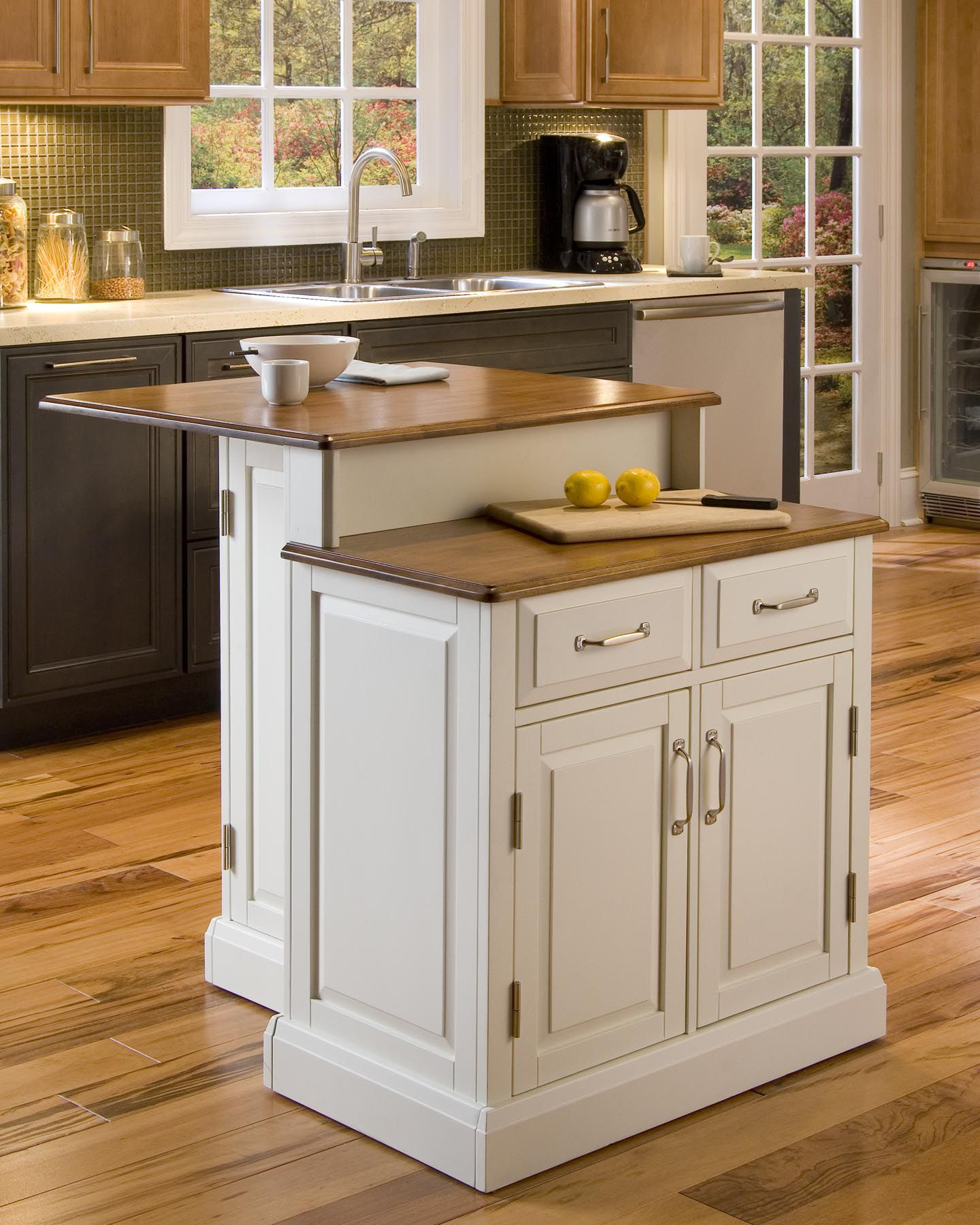 two tier kitchen island non slip work shoes for home styles woodbridge