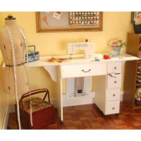 Arrow Cabinets Sewing Cabinet Auntie Em, Crisp White