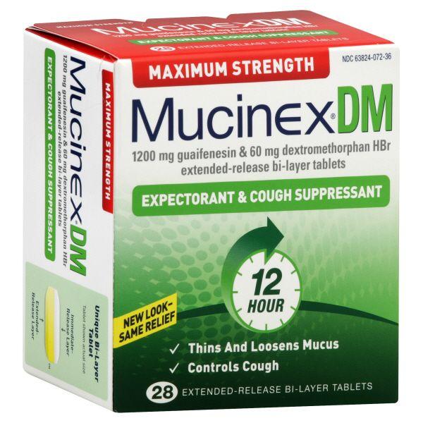 Mucinex DM Expectorant & Cough Suppressant Maximum ...