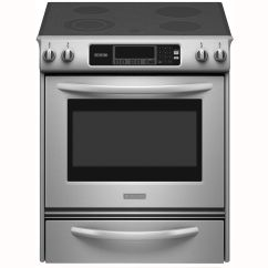 Kitchen Aid Stoves Indoor Grill Kitchenaid Kesk901sss 4 1 Cu Ft Self Clean Slide In Electric Range Stainless Steel