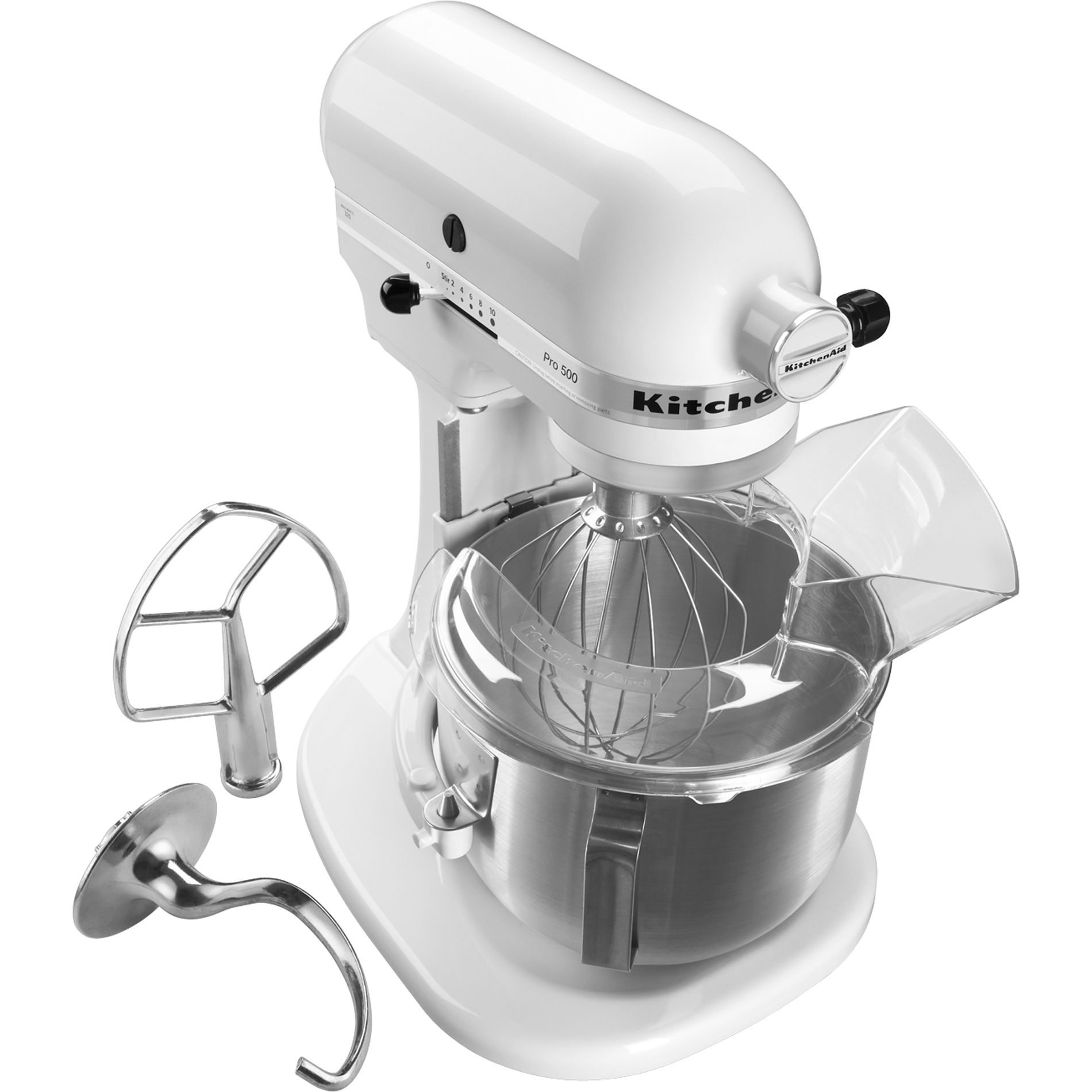 white kitchen aid pull out drawers kitchenaid ksm500pswh 5 quart pro 500 series stand mixer