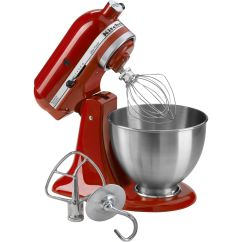 Red Kitchen Aid Mixer How To Install Hidden Hinges On Cabinets Kitchenaid Ksm95er 4 5 Quart Ultra Power Empire Stand