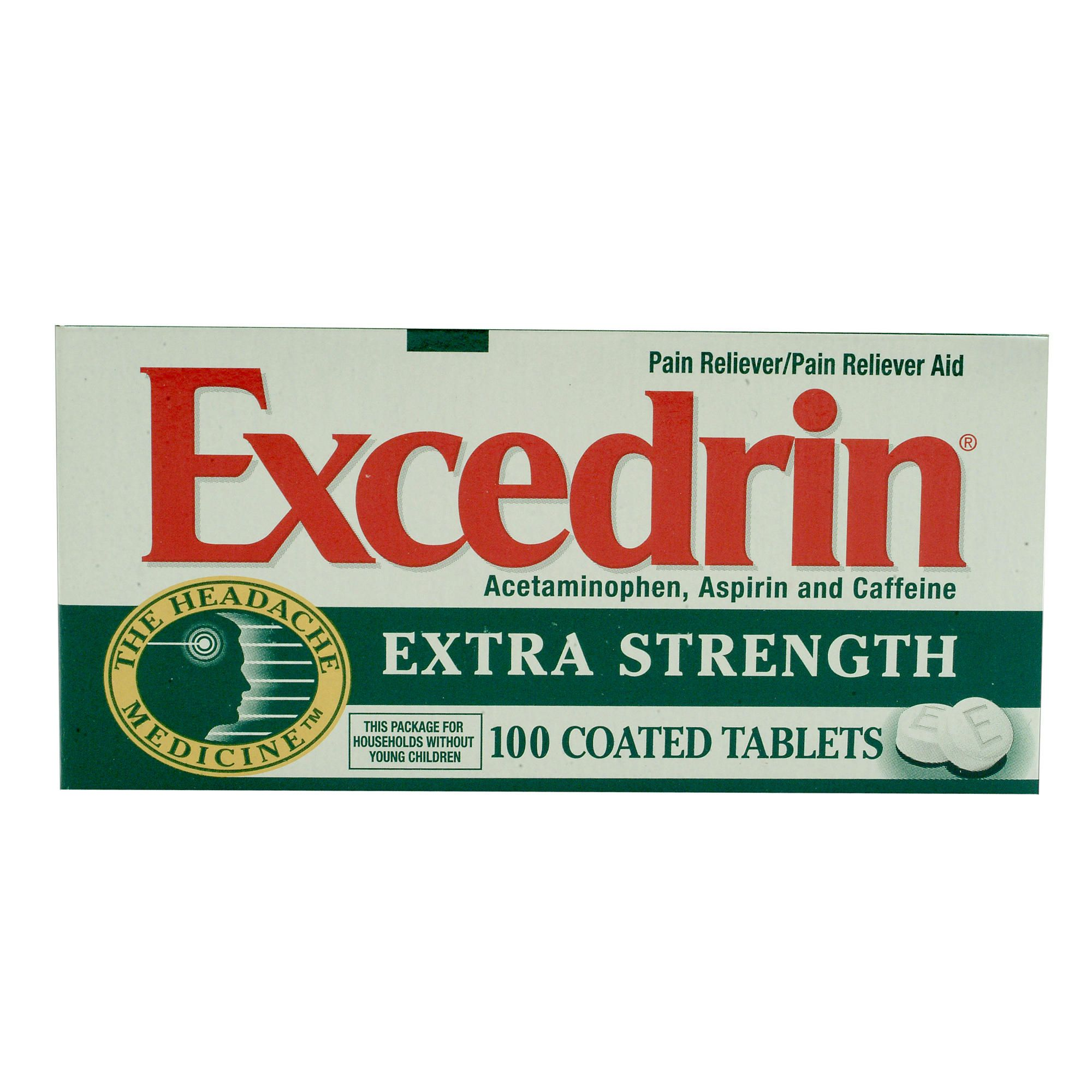 Excedrin Extra Strength Caplets 100 Count - Health