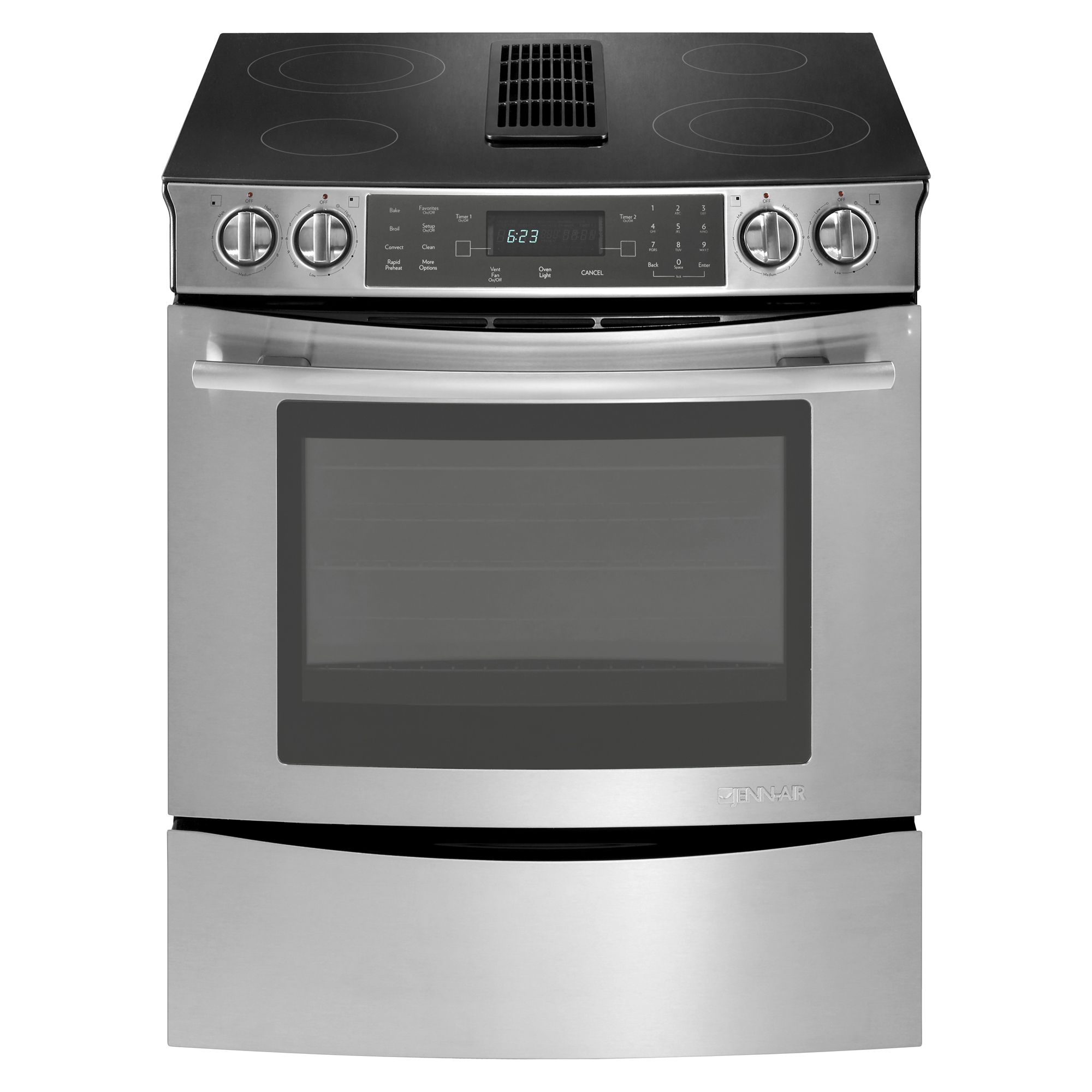 "Jenn-air Jes9800cas 30"" Slide-in Electric Downdraft Range"