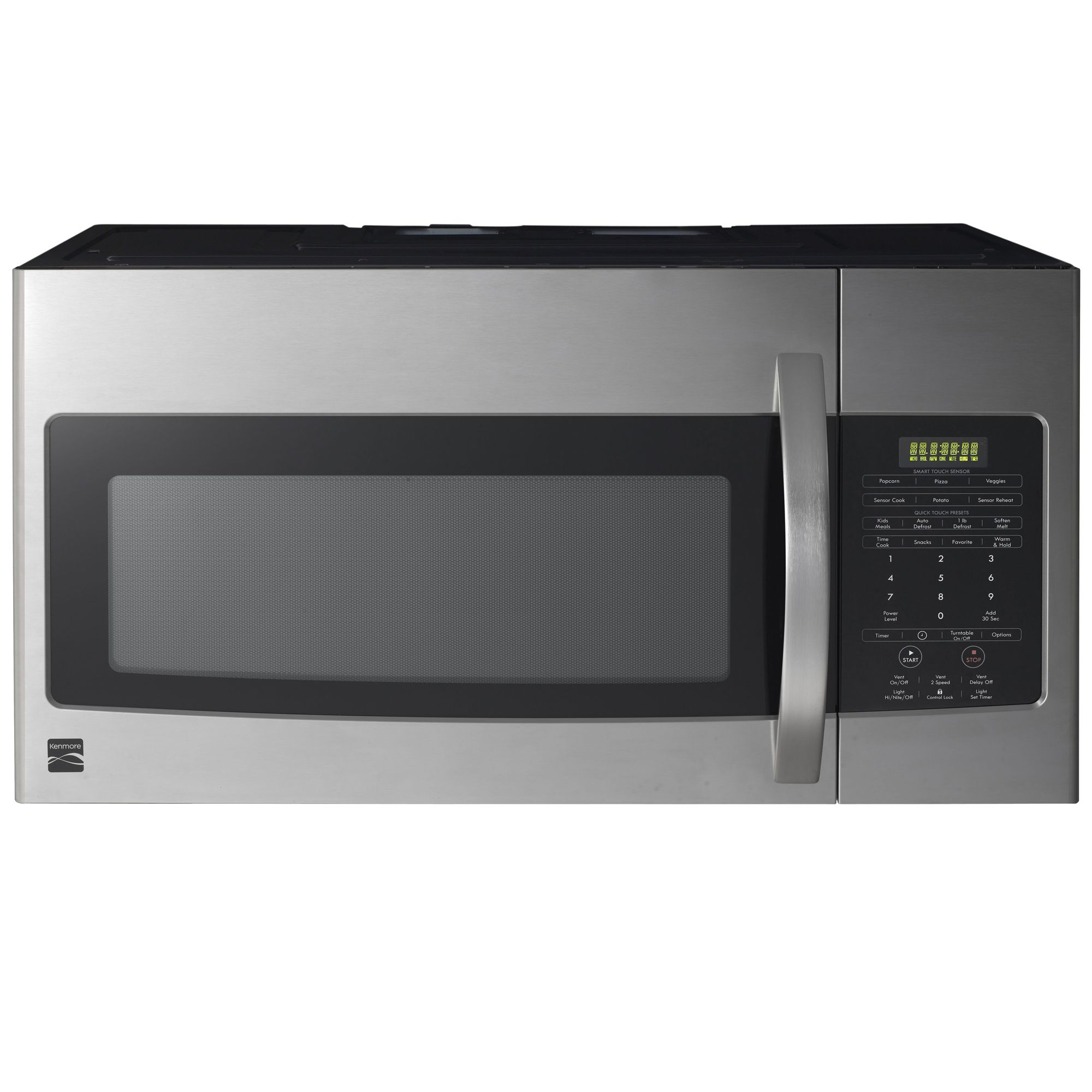 kenmore 85043 1 7 cu ft over the range microwave oven stainless steel