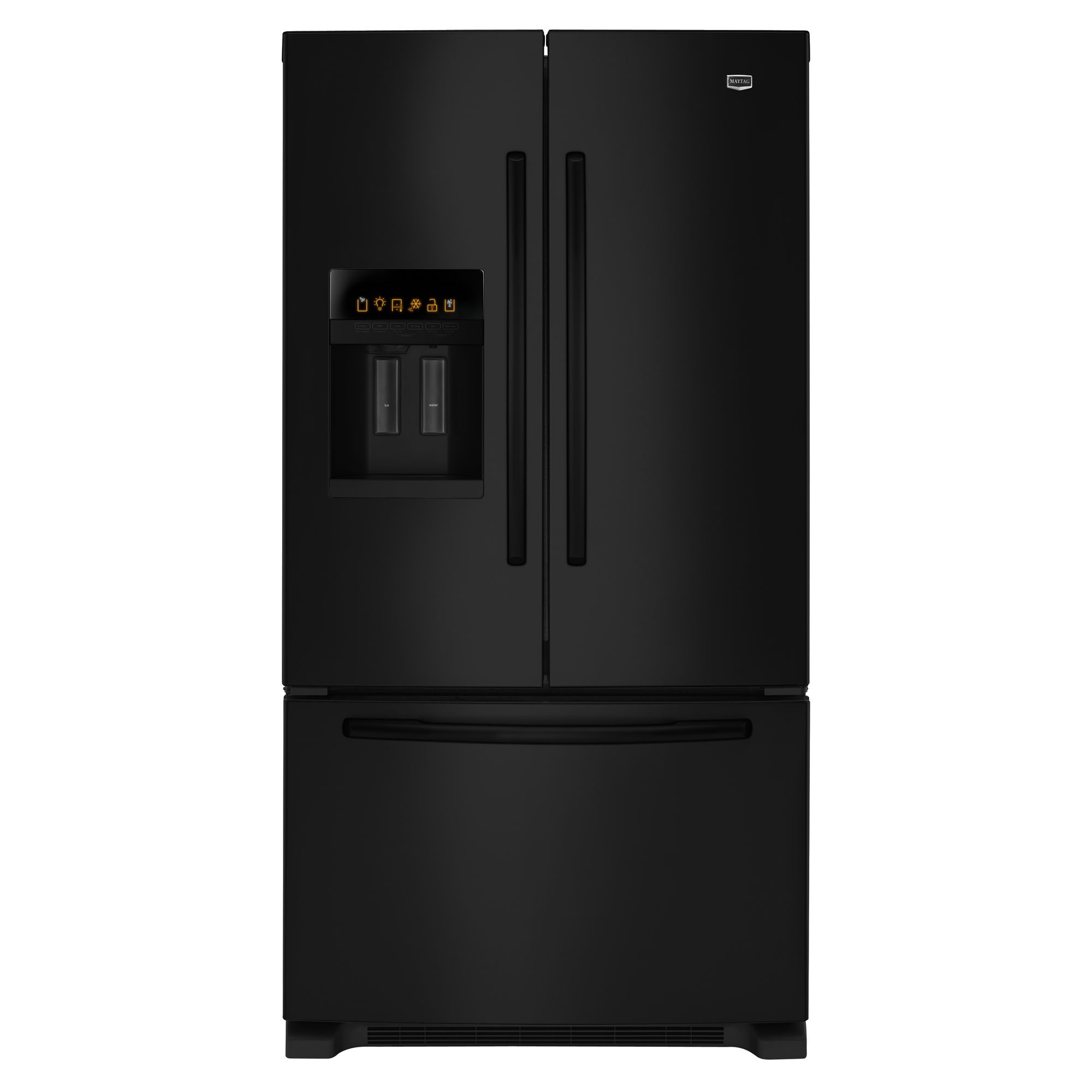 dispenser kitchen solid wood toy maytag mfi2670xeb 25.5 cu. ft. french door bottom freezer ...