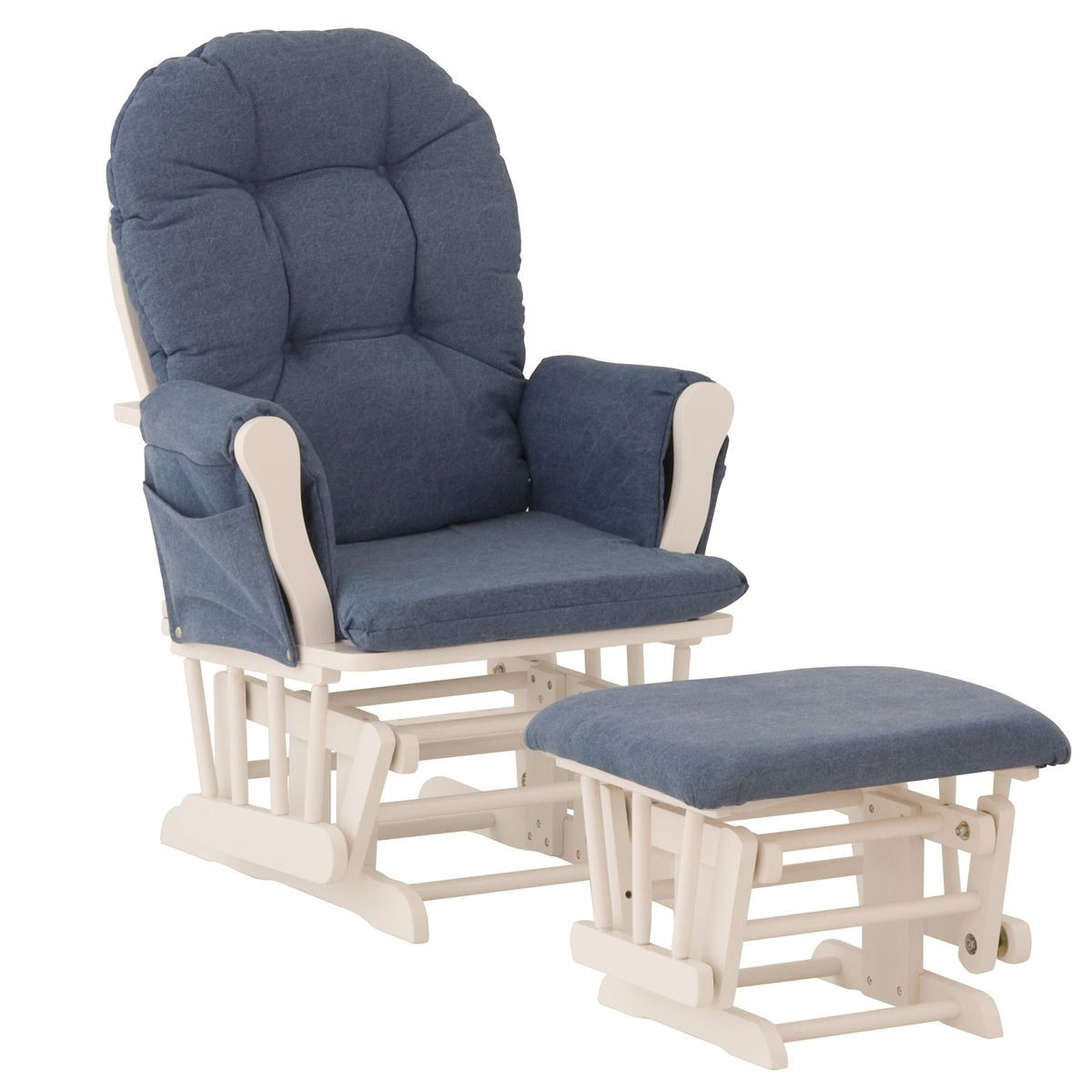 walmart rocking chair glider carrington court parsons chairs storkcraft hoop and ottoman white denim
