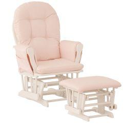White Wood Rocking Chair Nursery Ikea Covers Glider Baby Rocker Furniture Ottoman Set