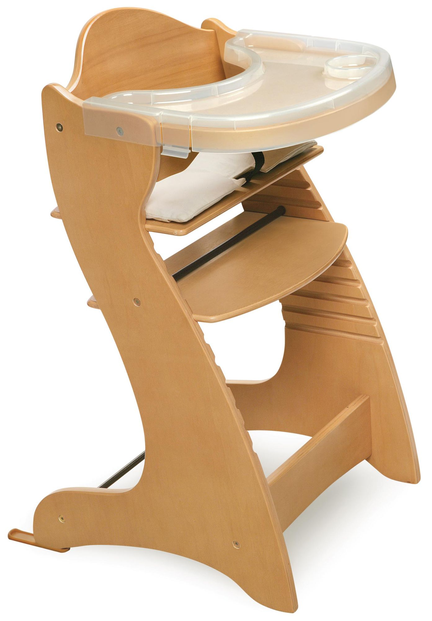 Wooden High Chair Badger Basket Embassy Wood High Chair Natural Finish