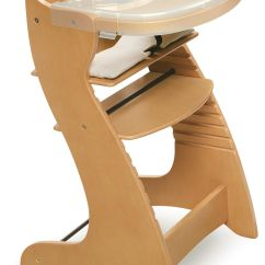 Restaurant High Chair With Tray Beach Chairs San Diego Badger Basket Embassy Wood Natural Finish