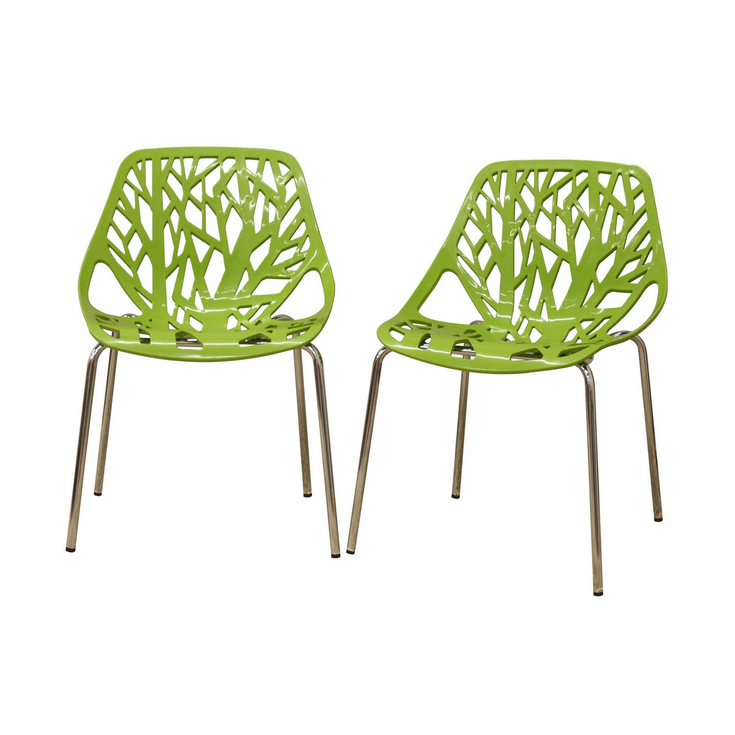 green kitchen chairs remodeling on a budget baxton studio birch sapling plastic modern dining