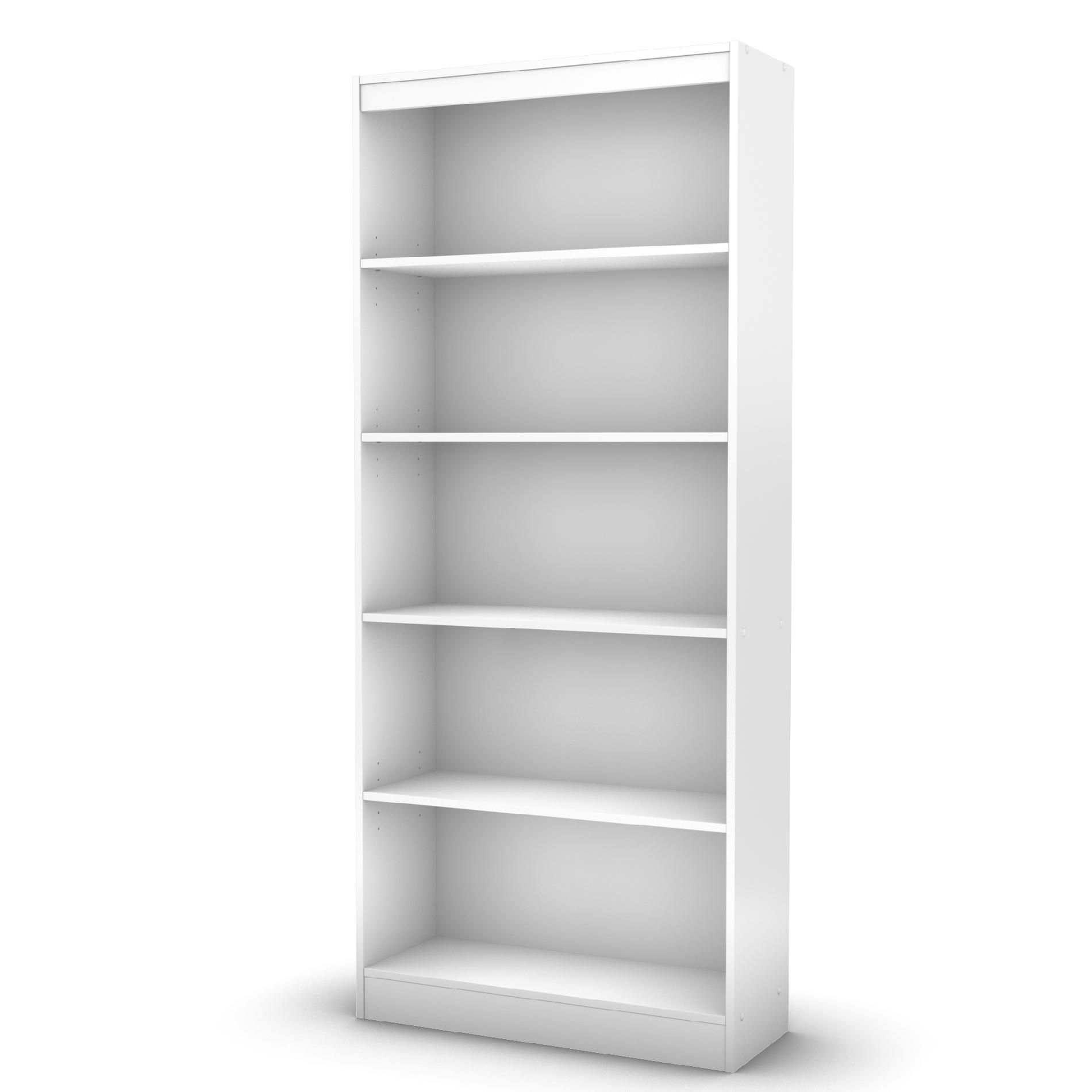 Axess Collection 5shelf Bookcase Pure White