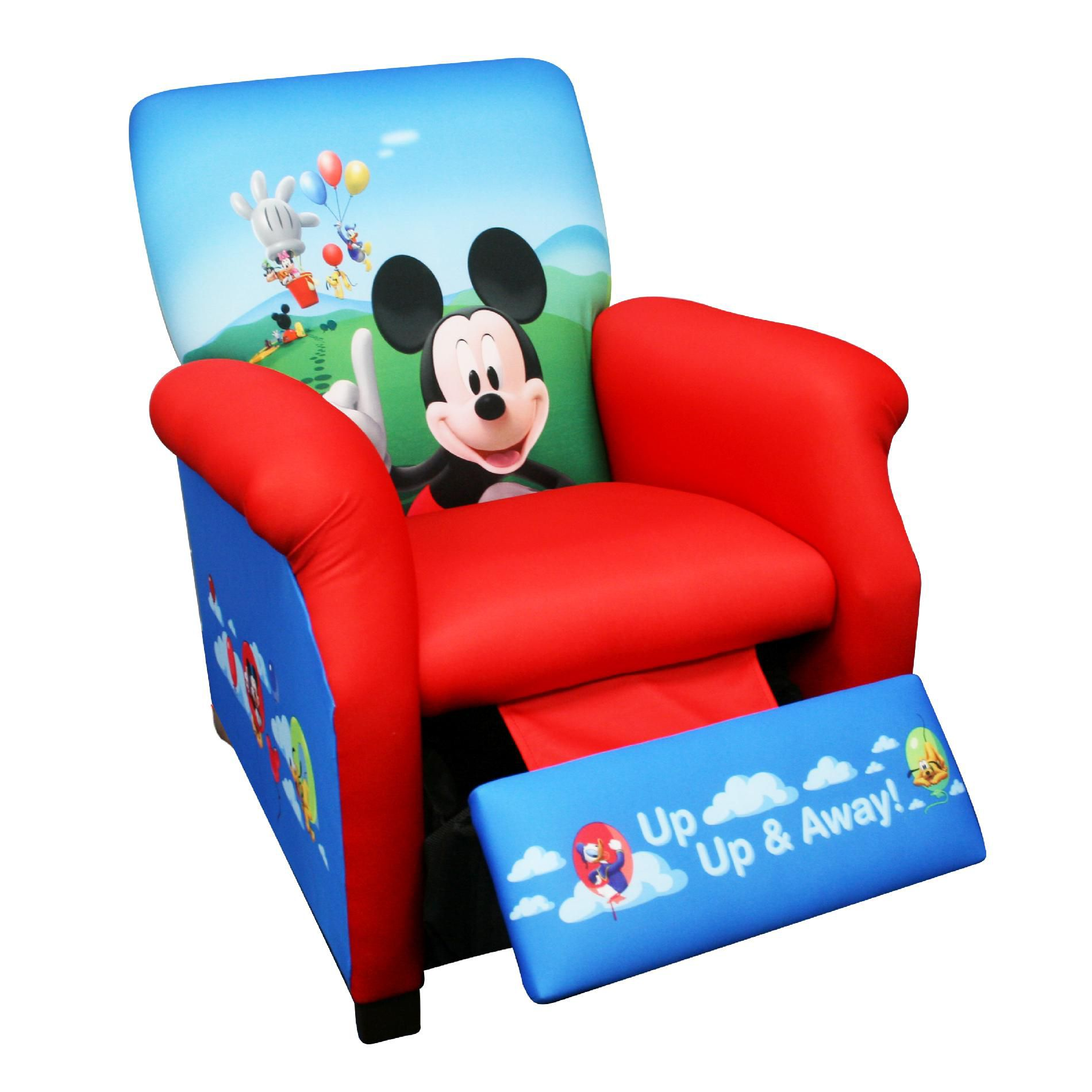 mickey mouse armchair uk chair cover rental golden co delta children disney balloons recliner