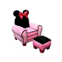 Delta Children Disney - Minnie Mouse Chair and Ottoman