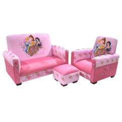 Sofa Chair For Baby Girl Leather Bed New York City Delta Children Disney Princess Jeweled Gardens Toddler