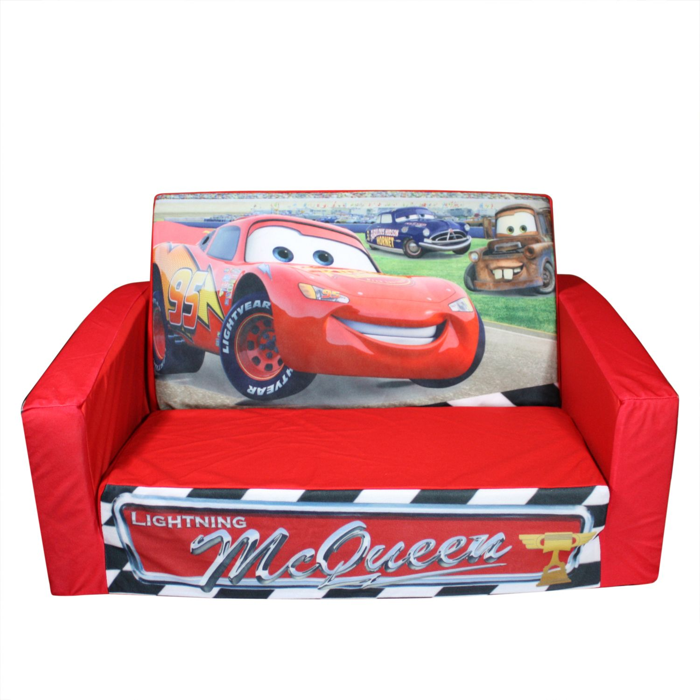 disney flip open sofa bed with chaise longue backabro marshmallow fun 39s cars