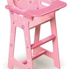 High Chair With Accessories Human Touch Chairs Badger Toy Blossoms And Butterflies Doll Toys