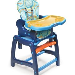 High Chair Basket Pattern Accent Badger Envee Baby With Playtable