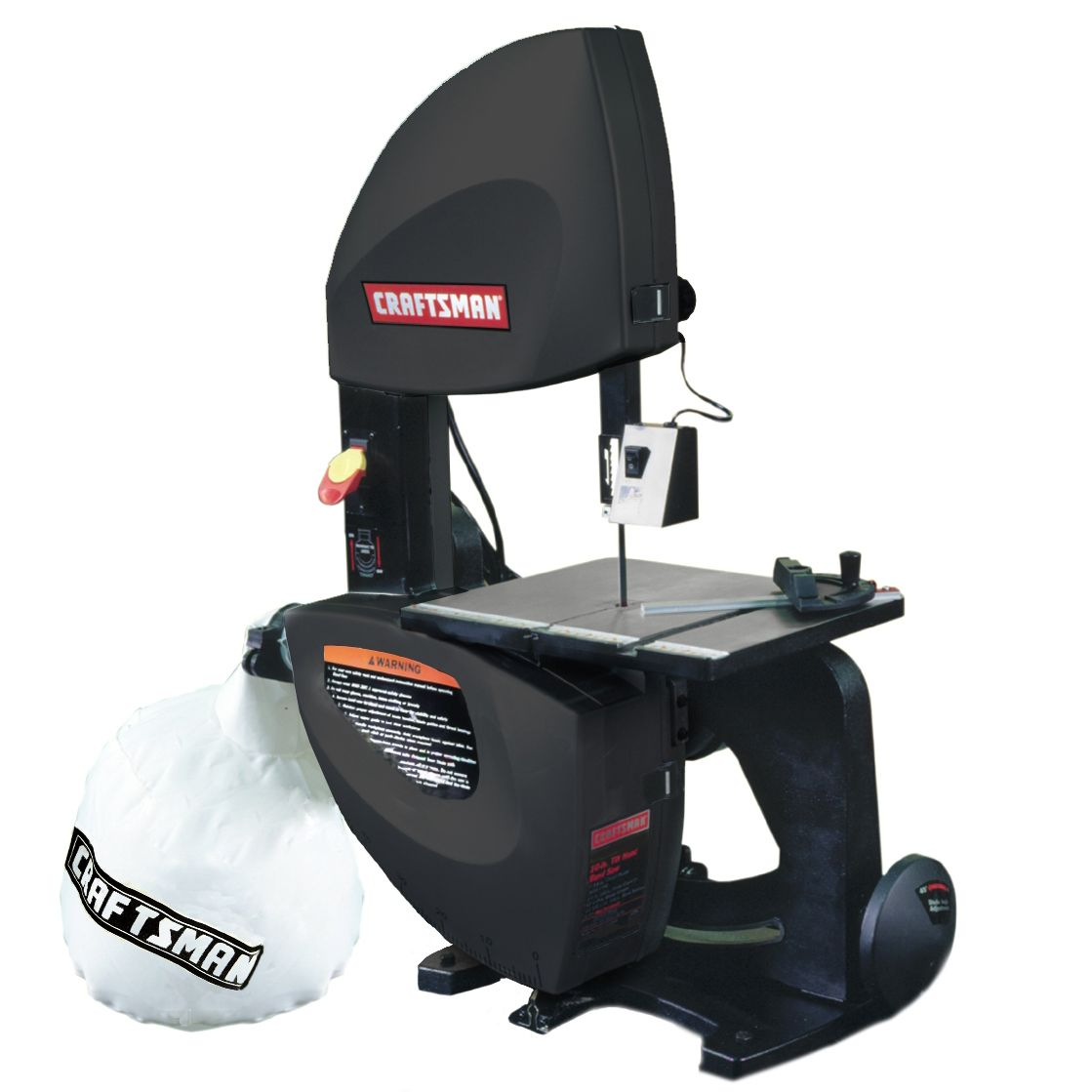 Craftsman 10 In. Tilting Head Band With Dust Collector