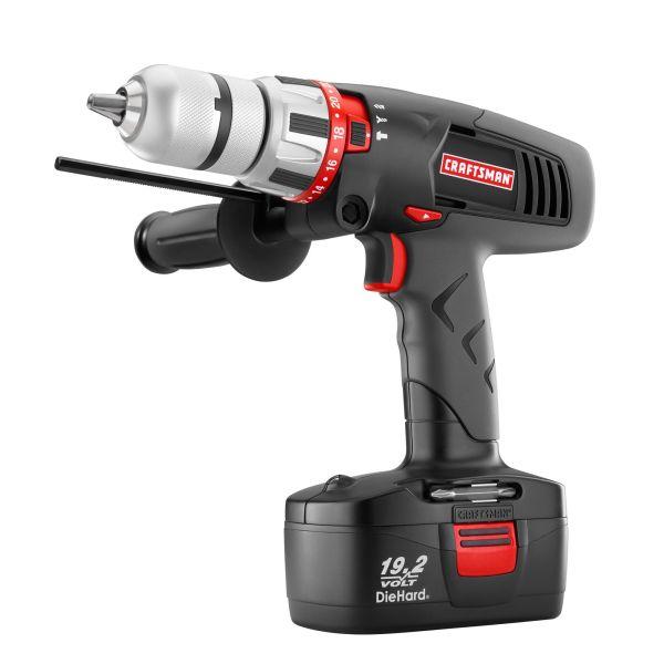 "Craftsman C3 19.2-Volt Cordless 1/2"" Hammer Drill/Driver ..."
