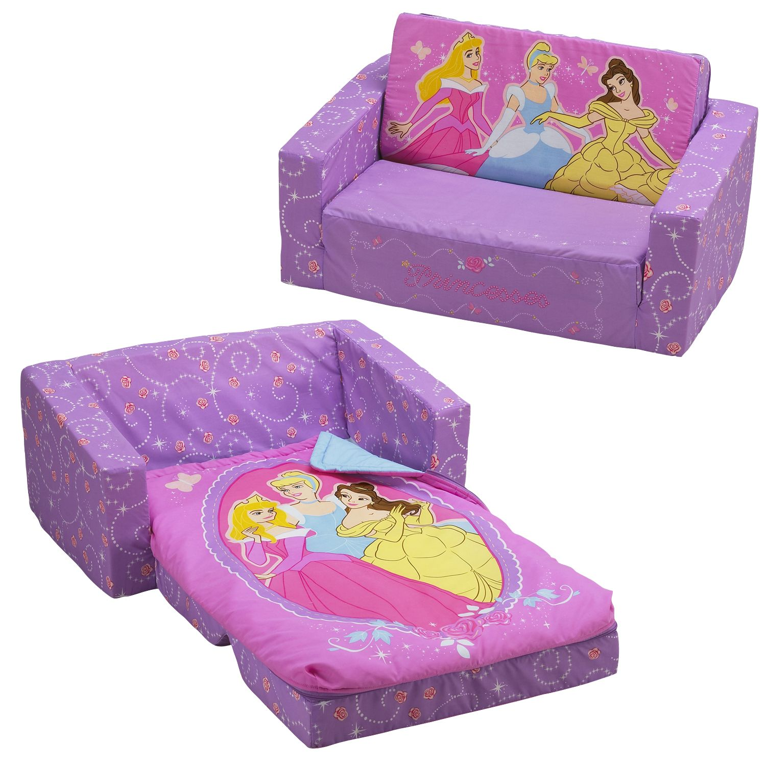 disney princess flip out sofa mart corpus christi with slumber bag home