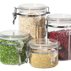 Clear Kitchen Canisters Tool 5355 4 Piece Acrylic Canister Set