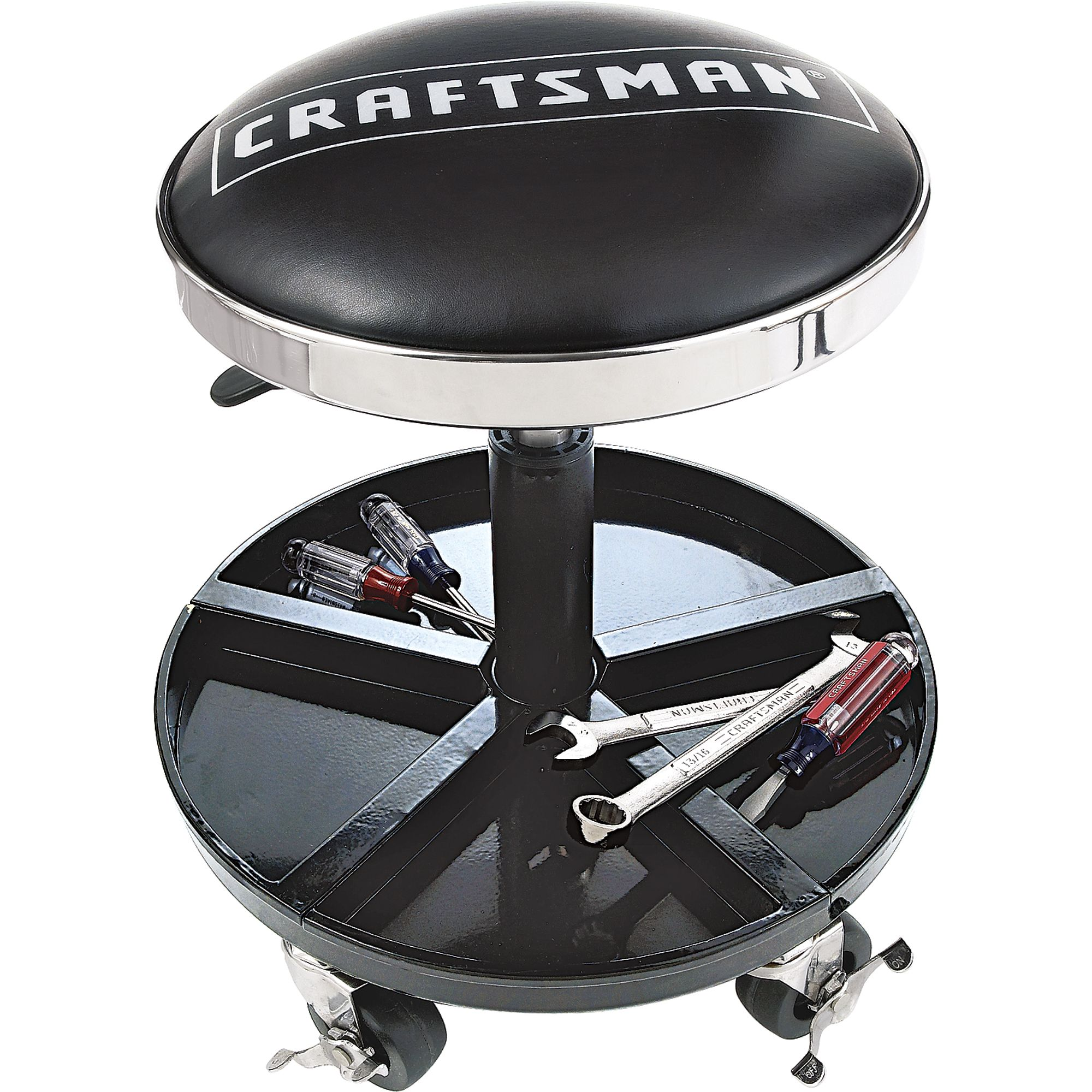 garage chairs rolling wheelchair you blow into craftsman mechanic 39s seat mobility at kmart