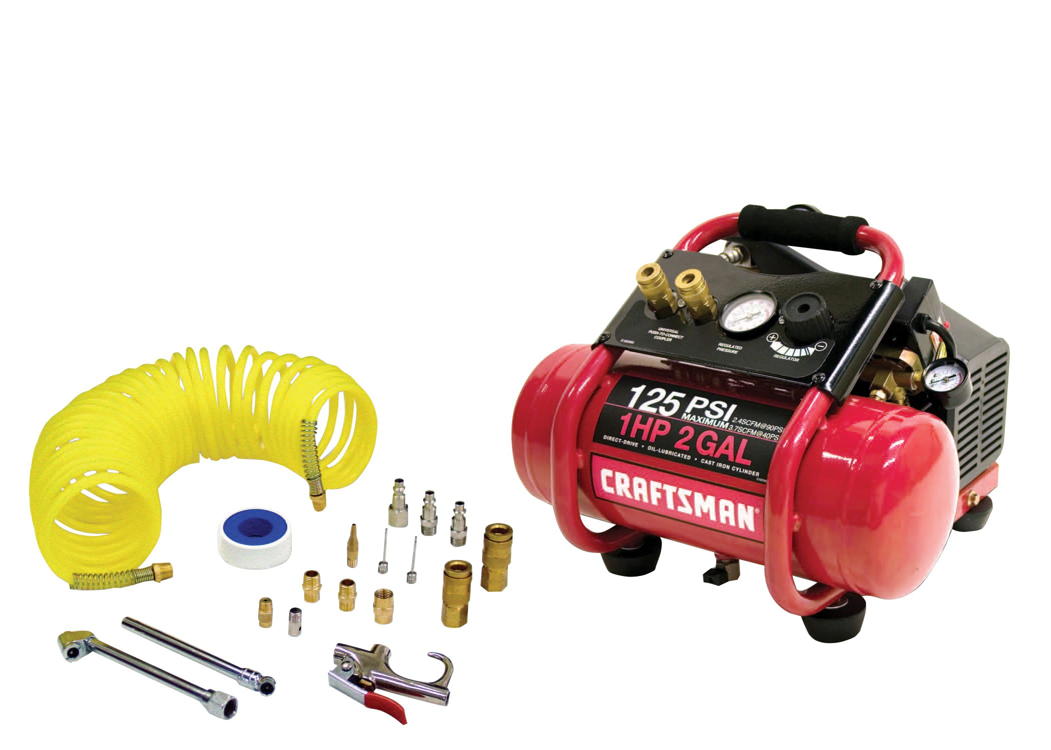Craftsman 2 Gal. Air Compressor With 17 Pc. Accessory Kit