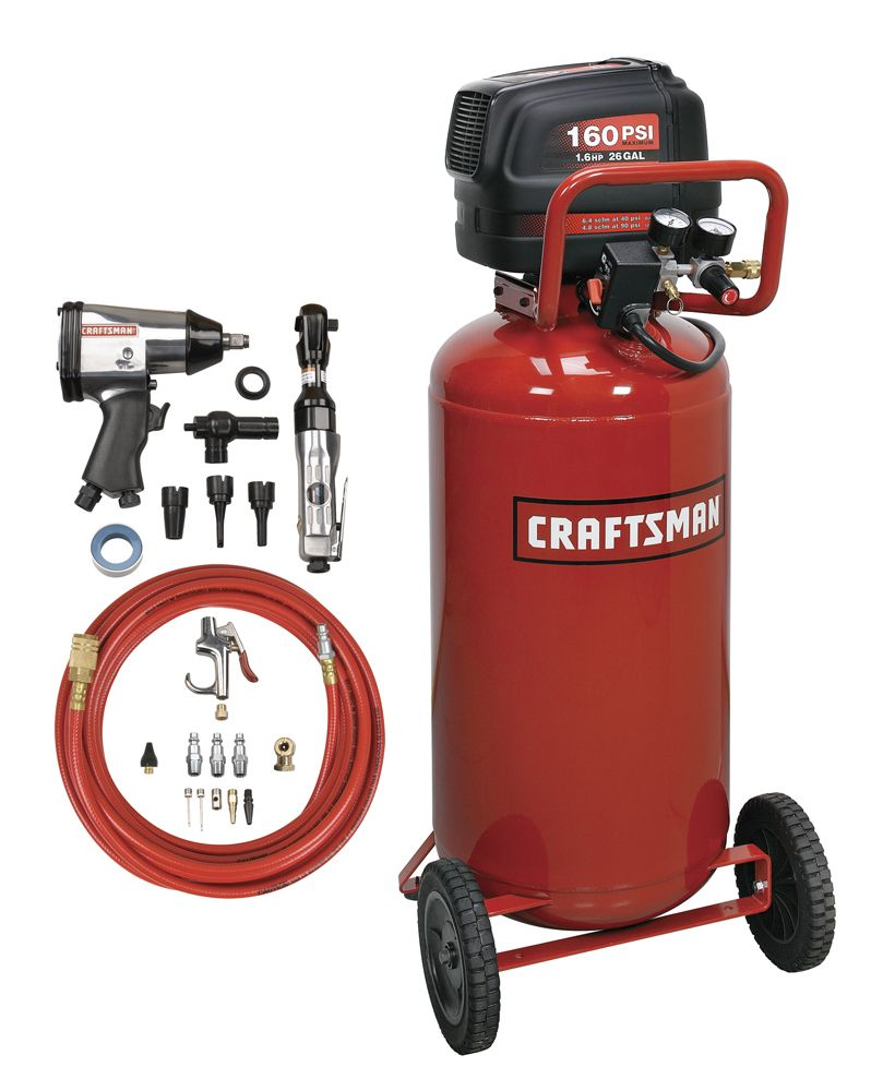 Craftsman - 16760 26 Gal. Air Compressor With Tool